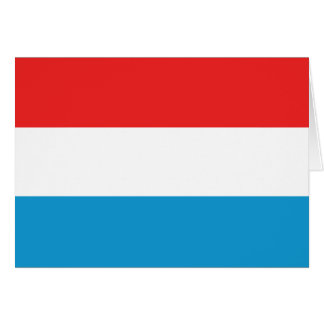 Luxembourg Flag Notecard