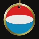 Luxembourg Fisheye Flag Ornament