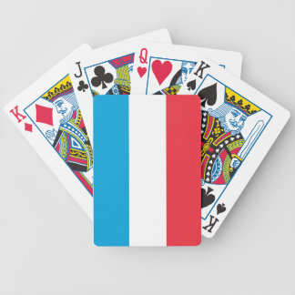 Luxembourg Flag Bicycle Poker Cards