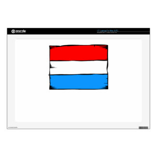 """Luxembourg Flag 17"""" Laptop Decal"""