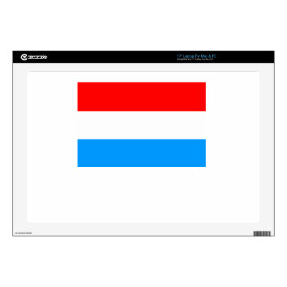 """Luxembourg Flag 17"""" Laptop Decals"""