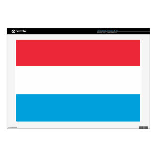 """Luxembourg Flag Decal For 17"""" Laptop"""