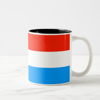 Luxembourg Flag Two-Tone Coffee Mug