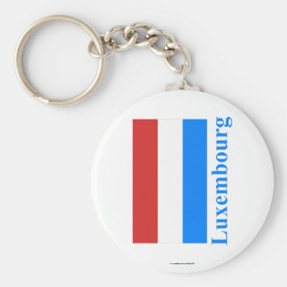 Luxembourg Flag with Name Keychain