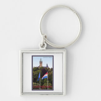 Luxembourg Flags Keychain