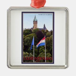 Luxembourg Flags Metal Ornament