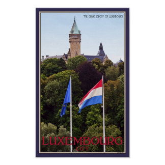 Luxembourg Flags Poster