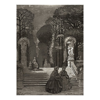 Luxembourg Gardens 1850 Poster