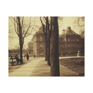 Luxembourg Gardens Photograph by Eugene Atget Canvas Print