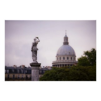 Luxembourg Gardens & The Pantheon Print