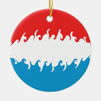 Luxembourg Gnarly Flag Ceramic Ornament