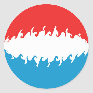Luxembourg Gnarly Flag Classic Round Sticker