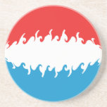 Luxembourg Gnarly Flag Drink Coaster