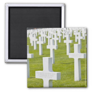 Luxembourg, Hamm. US Military Cemetery 2 Inch Square Magnet
