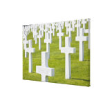 Luxembourg, Hamm. US Military Cemetery Canvas Print
