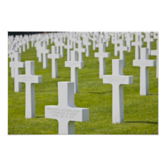 Luxembourg, Hamm. US Military Cemetery Poster