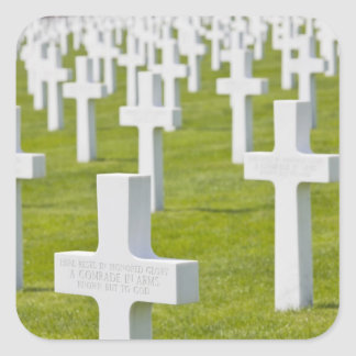 Luxembourg, Hamm. US Military Cemetery Square Sticker