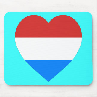 Luxembourg Heart Flag Mouse Mat