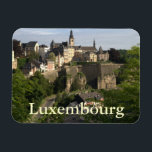 """Luxembourg Magnet<br><div class=""""desc"""">On the foreground the Grund (or Gronn),  a quarter in Luxembourg on the banks of the Alzette river. In the background,  on the cliff,  the Ville Haute,  the historic city center of Luxembourg.</div>"""
