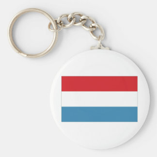 Luxembourg National Flag Keychain