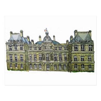 Luxembourg Palace Drawing Postcard