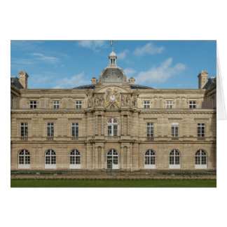 Luxembourg Palace French Senate Paris France Card