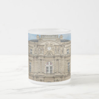 Luxembourg Palace French Senate Paris France Frosted Glass Coffee Mug