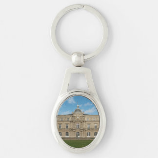 Luxembourg Palace French Senate Paris France Silver-Colored Oval Metal Keychain