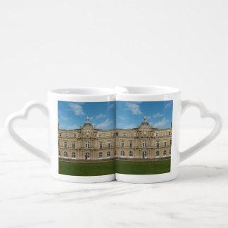 Luxembourg Palace French Senate Paris France Couples' Coffee Mug Set