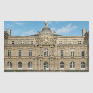 Luxembourg Palace French Senate Paris France Rectangular Sticker