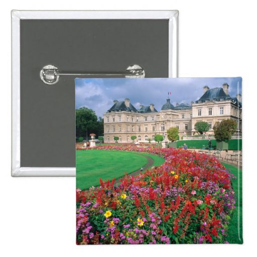 Luxembourg Palace in Paris, France. Pinback Buttons