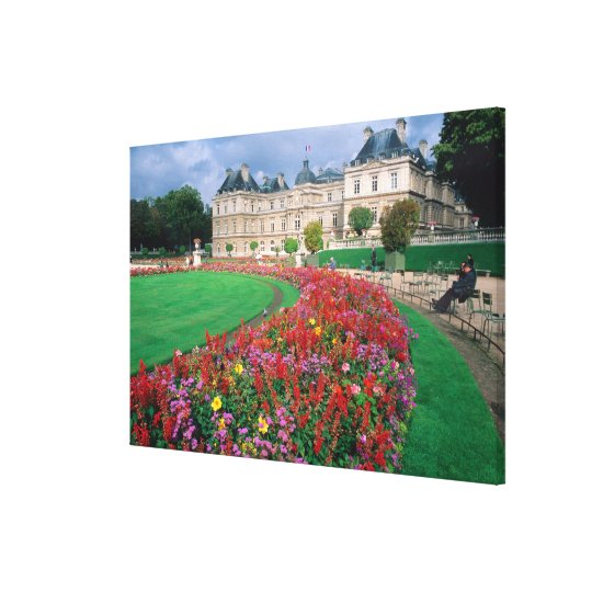 Luxembourg Palace in Paris, France. Canvas Print