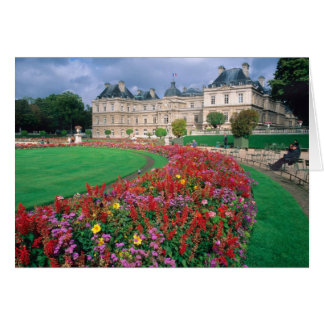 Luxembourg Palace in Paris, France. Card