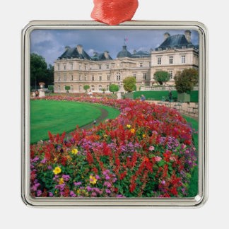Luxembourg Palace in Paris, France. Square Metal Christmas Ornament
