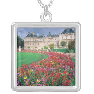Luxembourg Palace in Paris, France. Square Pendant Necklace