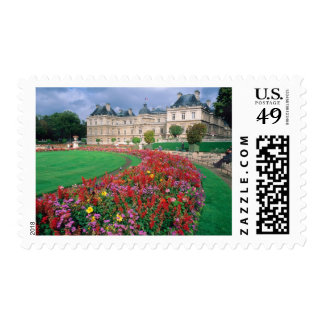 Luxembourg Palace in Paris, France. Stamp