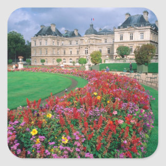 Luxembourg Palace in Paris, France. Square Sticker