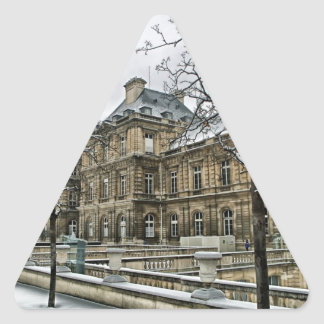 Luxembourg Palace - the seat of the French Senate Triangle Sticker