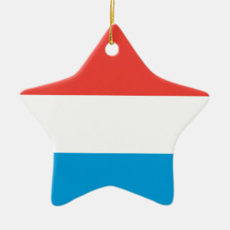 Luxembourg Plain Flag Ceramic Ornament