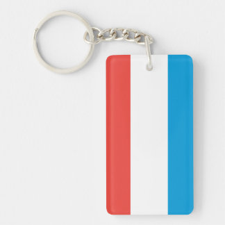 Luxembourg Plain Flag Keychain