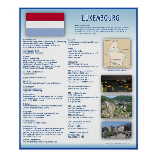 Luxembourg Print