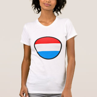 Luxembourg quality Flag Circle Shirt