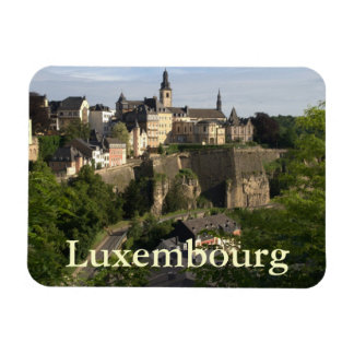 Luxembourg Rectangular Photo Magnet