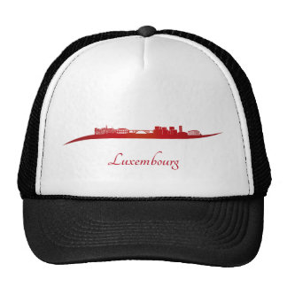 Luxembourg skyline in red gorras