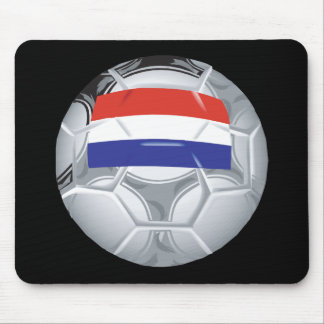 Luxembourg Soccer Ball Mouse Pad