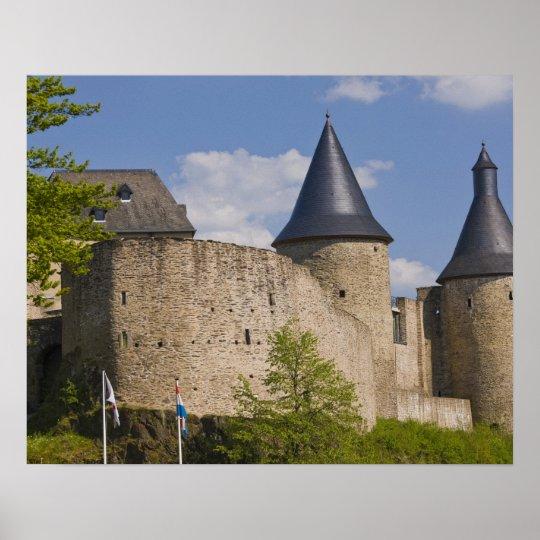 Luxembourg, Sure River Valley. Bourscheid, Poster