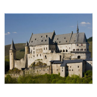 Luxembourg, Vianden. Vianden Chateau (b. 15th Poster