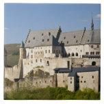 Luxembourg, Vianden. Vianden Chateau (b. 15th Ceramic Tiles