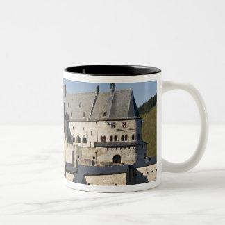 Luxembourg, Vianden. Vianden Chateau (b. 15th Two-Tone Coffee Mug