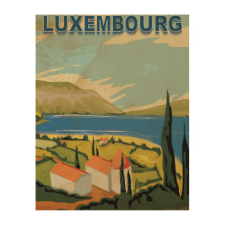 Luxembourg Vintage Travel Poster